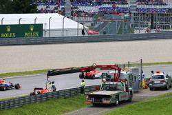 Will Stevens, Manor F1 Takımı, yarış dışı kalıyor