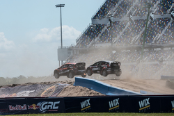 Steve Arpin, Chip Ganassi Racing Ford and Nelson Piquet Jr., SH Racing Rallycross Ford