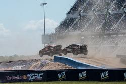 Steve Arpin, Chip Ganassi Racing Ford e Nelson Piquet Jr., SH Racing Rallycross Ford
