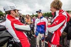 Romain Dumas, Sébastien Buemi y Brendon Hartley