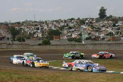 Matias Rodriguez, UR Racing Dodge and Luis Jose di Palma, Indecar Racing Torino and Federico Alonso,