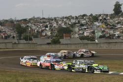 Mauro Giallombardo, Maquin Parts Racing Ford; Guillermo Ortelli, JP Racing Chevrolet e Lionel Ugalde