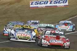 Matias Rossi, Donto Racing Chevrolet and Mauricio Lambiris, Coiro Dole Racing Torino and Nicolas Bon