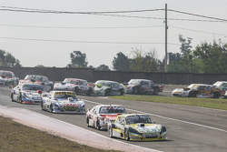 Omar Martinez, Martinez Competicion Ford and Matias Rossi, Donto Racing Chevrolet and Mauricio Lambi