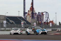 Michel Nykjaer, SEAT Leon, Target Competition, und Tomas Engström, SEAT Leon, Liqui Moly Team Engstl