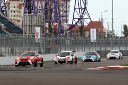 Sergey Afanasyev, SEAT Leon, Craft Bamboo Racing LUKOIL y Gianni Morbidelli, Honda Civic TCR, West C