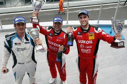 race winner Jordi Gene, SEAT Leon, Craft Bamboo Racing LUKOIL second place Pepe Oriola, SEAT Leon,