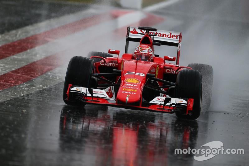 Antonio Fuoco, Ferrari SF15-T in the heavy rain