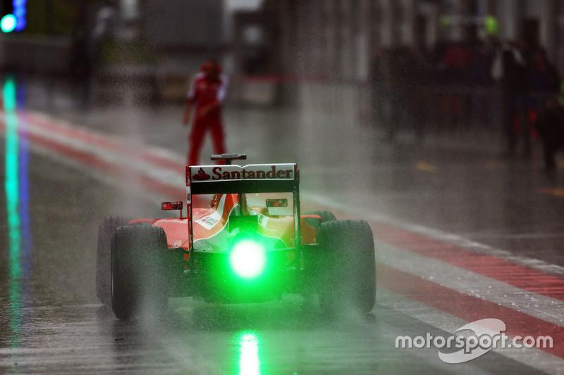 Antonio Fuoco, Ferrari SF15-T sotto la pioggia