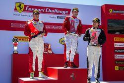 Podium: Race winner #1 Ferrari of Houston Ferrari 458: Ricardo Perez, second place #99 Ferrari of Va