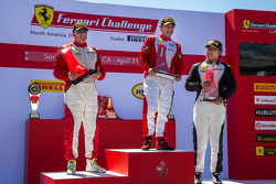 Podium: Race winner #1 Ferrari of Houston Ferrari 458: Ricardo Perez, second place #99 Ferrari of Va