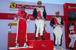 Podium: Race winner #23 Miller Motorcars Ferrari 458: Carlos Conde, second place #91 Ferrari of Long Island Ferrari 458: Anthony Imperato and third place #8 Ferrari of Fort Lauderdale Ferrari 458