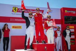 Podium: Race winner #105 Miller Motorcars Ferrari 458: Rodney Randall, second place #177 Miller Moto