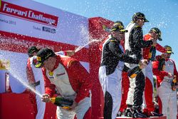 Podium champagne celebrations