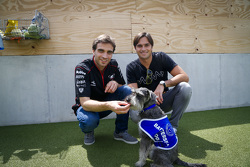 Jérôme d'Ambrosio, Dragon Racing y Nelson Piquet Jr., China Racing visitan la Battersea Casa de los