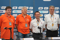 Rob Shaddock, TE Connectivity, y Roger Griffiths, Andretti Autosport