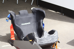 El asiento de Karun Chandhok, Mahindra Racing