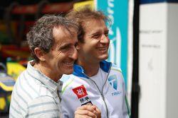 Alain Prost y Jarno Trulli