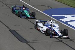 Marco Andretti, Andretti Autosport Honda et Charlie Kimball, Chip Ganassi Racing Chevrolet