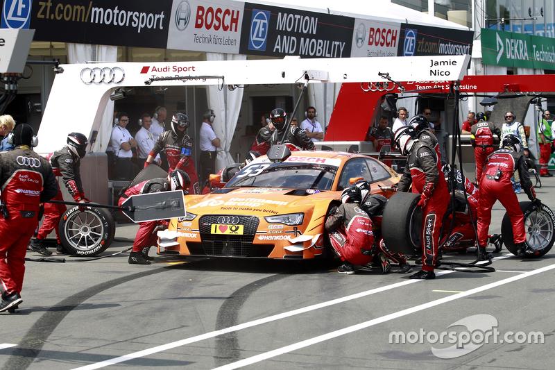 Pitstop, Jamie Green, Audi Sport Team Rosberg Audi RS 5 DTM