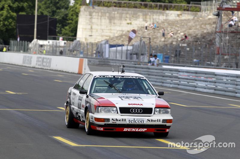 Demo drive Hans Joachim Stuck with Audi V8 Quattro.