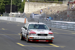 Demo drive Hans Joachim Stuck with Audi V8 Quattro.