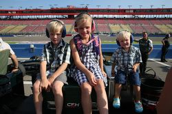 Young racers on a pitbox