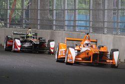 Jean-Eric Vergne, Andretti Autosport et Bruno Senna, Mahindra Racing