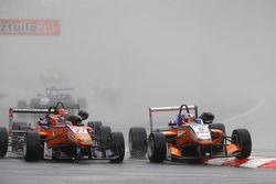 27 Mikkel Jensen, Mücke Motorsport Dallara Mercedes-Benz and 5 Santino Ferrucci, Mücke Motorsport Da