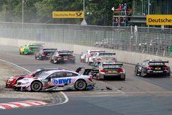 Miguel Molina, Audi Sport Team Abt, Audi RS 5 DTM, und Lucas Auer, ART Grand Prix, Mercedes-AMG C63 DTM