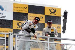 Podio, Robert Wickens, HWA AG Mercedes-AMG C63 DTM e Pascal Wehrlein, HWA AG Mercedes-AMG C63 DTM