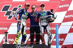 Podyum: Yarış galibi Valentino Rossi, üçüncü Jorge Lorenzo