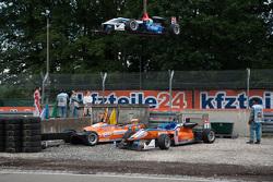 Pietro Fittipaldi, Fortec Motorsports, Dallara Mercedes-Benz; Michele Beretta, Mücke Motorsport, Dal