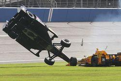 Ryan Briscoe, Schmidt Peterson Motorsports Honda e Ryan Hunter-Reay, Andretti Autosport Honda, grave