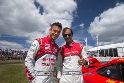 Les pilotes Audi Andre Lotterer et Emanuele Pirro