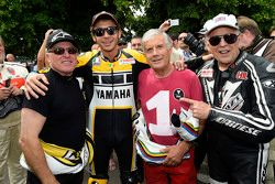 Kenny Roberts and Valentino Rossi, Yamaha Factory Racing and Giacomo Agostini