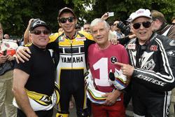 Kenny Roberts und Valentino Rossi, Yamaha Factory Racing, und Giacomo Agostini