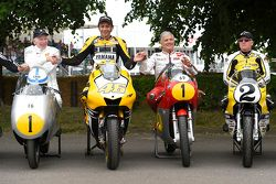 John Surtees and Valentino Rossi, Yamaha Factory Racing and Giacomo Agostini and Kenny Roberts