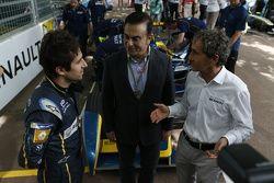 Nicolas Prost, e.dams-Renault e Carlos Ghosn and Alain Prost