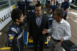 Nicolas Prost, e.dams-Renault and Carlos Ghosn and Alain Prost