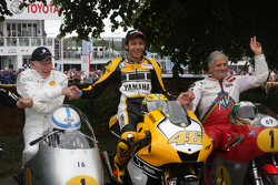 John Surtees, Valentino Rossi y Giacomo Agostini