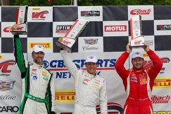 GTA Podium: ganador, Frank Montecalvo,segundo lugar Henrique Cisneros y tercer lugar, Timothy Pappas