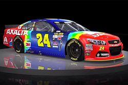Jeff Gordons Regenbogen-Farbdesign kehrt für das Bristol-Rennen zurück