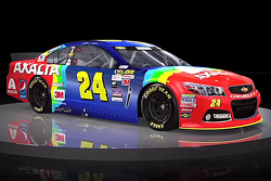 Jeff Gordon esquema de pintura del arco iris regresa para la carrera de Bristol