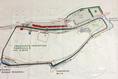 Hipotética pista de Imola na Formula E