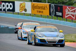 #36 Strategic Wealth Racing, Porsche Cayman: Matthew Dicken, Corey Lewis