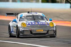 #44 Magnus Racing, Porsche 911 GT America: John Potter, Andy Lally, Marco Seefried