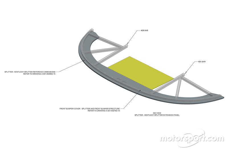NASCAR splitter technical drawings