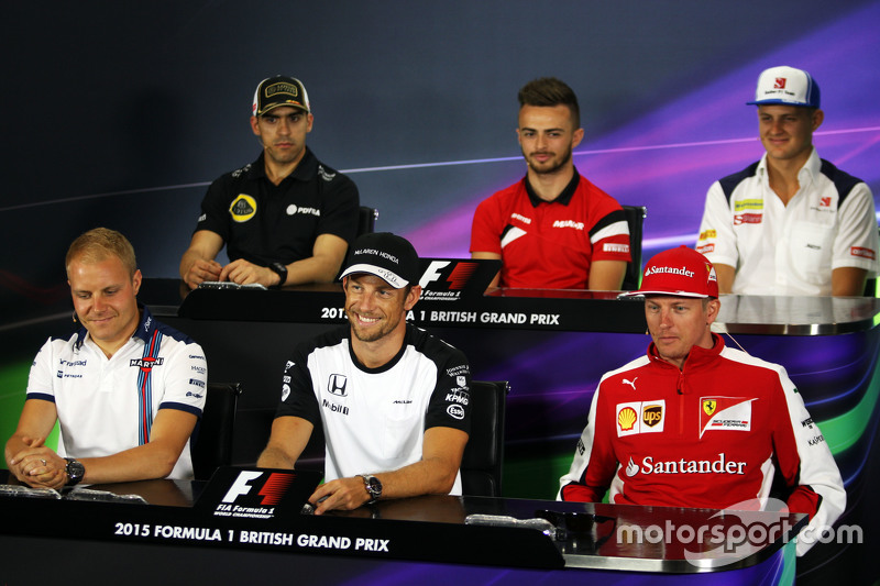 FIA Press Conference: Pastor Maldonado, Lotus F1 Team; Will Stevens, Manor F1 Team; Marcus Ericsson,