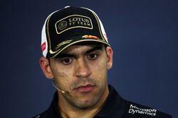 Pastor Maldonado, Lotus F1 Team in the FIA Press Conference